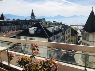 A deux pas d'Ouchy avec grand balcon et vue sur le lac et les Alpes (3)