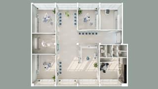Bureaux de 240 m² situés au 1er étage (2)