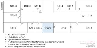 Grosse Bürofläche sehr zentral, direkt an der Aare, im Herzen von Thun! (3)