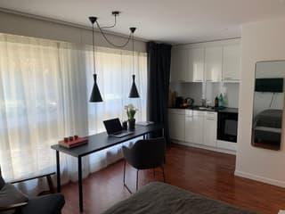 Stylisch möblierte Design 1,5 Zimmer Wohnung (4)