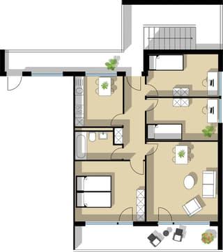 4.5 Zimmerwohnung an schönster Wohnlage mit Panoramablick auf den Alpstein zu verkaufen (4)
