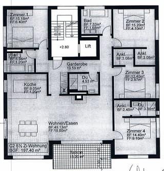 5.5. Zimmerwohnung, möbiliert (2)