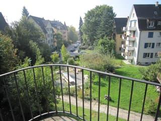 Sonnige 1-Zimmerwohnung mit Balkon nahe Bahnhof Wipkingen (2)