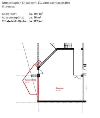 Showroom / Gewerberaum / Werkstatt an der Autobahnraststätte Würenlos (3)