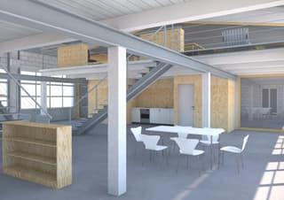 Gewerbe / Industrie / Büro / Atelier / Werkstatt / Sporthalle / HUB an der Grenze zur Stadt Zürich (3)