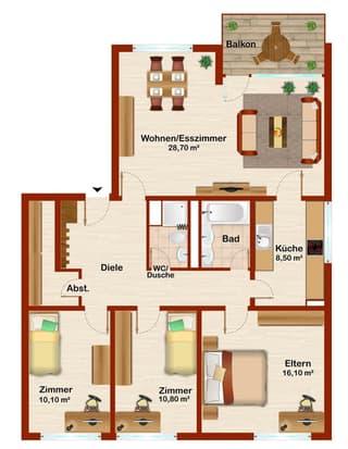 Erstvermietung nach Renovation einer Familien-Wohnung (2)