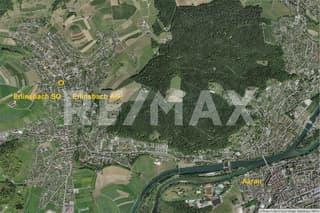 Erlinsbach SO, Kernzone, GF 808 m², BGF 484 m², ÖV / Einkauf 100 m, für EFH, Doppel-EFH oder 2 ETW (4)