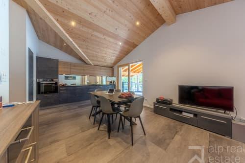 Appartement attique neuf à 10 minutes de Sion