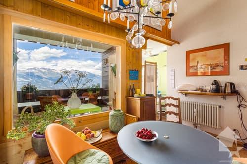 Nendaz, 4.5 pces duplex traversant, 110 m2, splendide vue et soleil