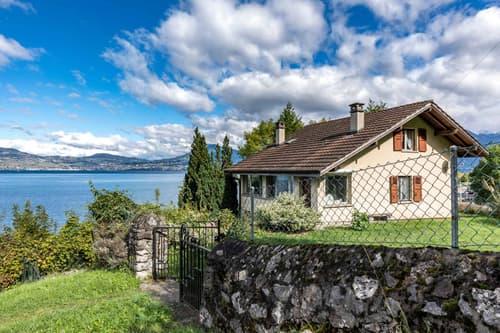 Maison individuelle proche du lac à rénover à vendre à St-Gingolph/VS