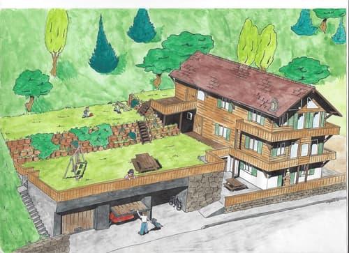 Directement du propriétaire : Ancien Chalet locatif à transformer à Arveyes / Villars-sur-Ollon pouvant atteindre 6 appartements