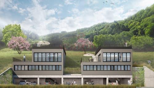 Belle réalisation de deux villas minergie à Vouvry
