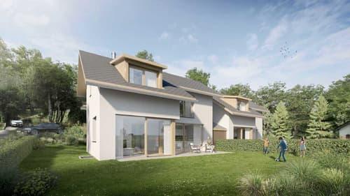 Le Vaud, Projet de 4 villas familiales labelisées Minergie