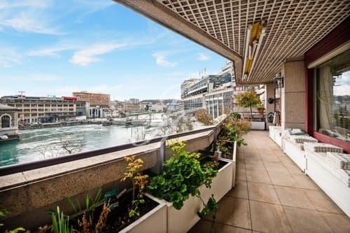 Spacieux appartement rénové vue sur le Rhône