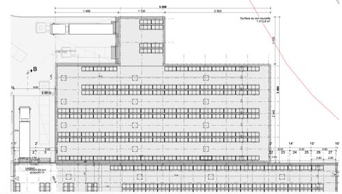 Halle de stockage à louer 1300m2 au sol - Echandens