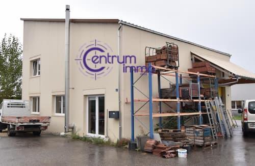 Bâtiment comprenant une halle artisanale avec atelier et bureaux, ainsi qu'un appartement de 3.5 pièces duplex. A Saisir.Libre de suite