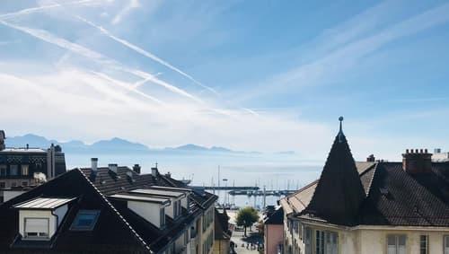A deux pas d'Ouchy avec grand balcon et vue sur le lac et les Alpes (1)