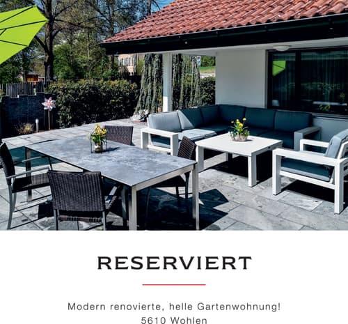 RESERVIERT! Modern renovierte, helle Gartenwohnung!