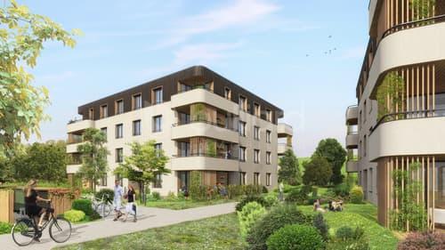Appartements de 1.5 pièces neufs au centre de Corminboeuf