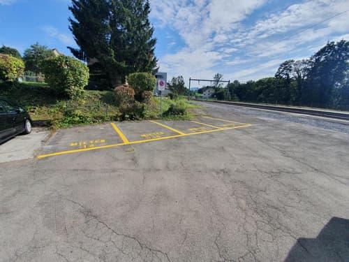Parkplatz am Bahnhof Mörschwil zu vermieten