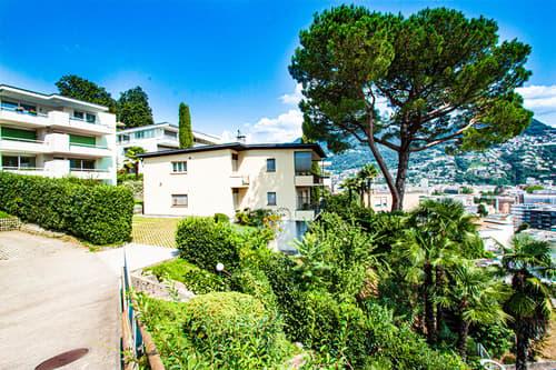Appartamento con giardino a pochi minuti dal centro di Lugano