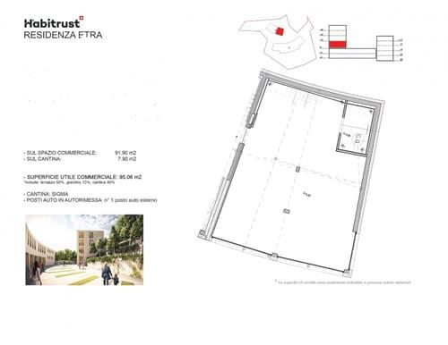 Nuovo ed ampio ufficio open-space a Pedrinate
