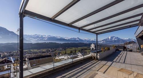 Unikat für Naturverbundene mit fantastischer Aussicht 8 ½ Zi Penthouse mit Dachgarten in Udligenswil