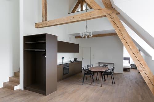 Möblierte Wohnung mit Service zentral gelegen in Ennetbaden