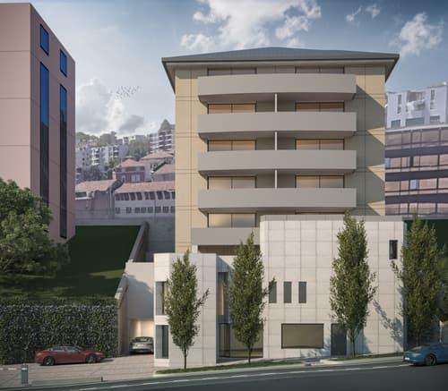 Nuovo ufficio al piano attico nel cuore di Lugano con autorimessa