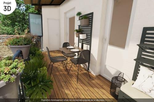 Dpt Loire (42), à vendre FRAISSES appartement duplex T5 avec terrasse