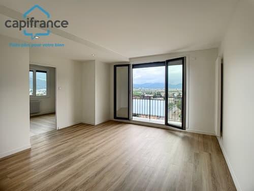 Dpt Isère (38), à vendre FONTAINE - 4 pièces avec balcons au dernier
