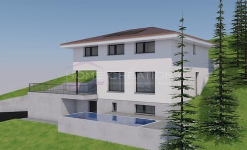 Projet villa d'architecte sur plans