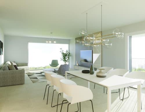 Grand living de 49,1 m2, sortie sur la terrasse de 30,90 m2