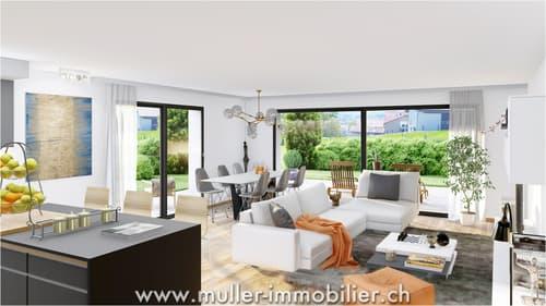 Grand 4 pièces avec jolie terrasse à Farvagny