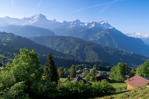 Terrain pour 2 chalets avec permis d'implantation à Chesières-Villars