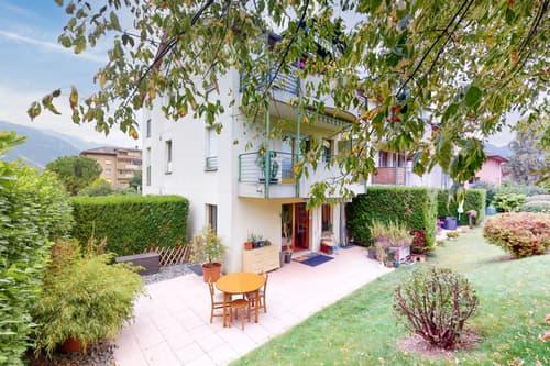 Magnifique 3.5 pièces en rez de jardin au calme à Collombey-Muraz