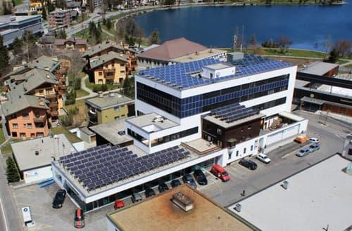 Modernes Büro in der Liegenschaft Ludains in St. Moritz - Bad