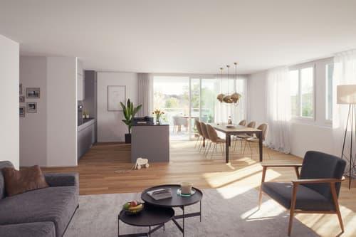 HIER ENTSTEHEN - Eigentumswohnungen im Langäcker in Sitterdorf