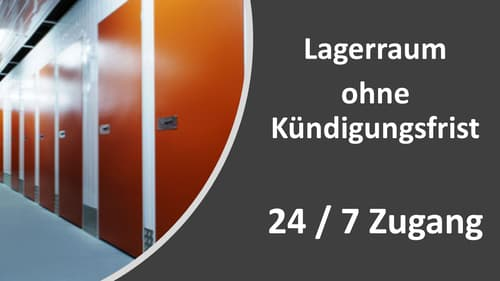 Lagerräume zw. 1m3 und 38m3 flexibel zu vermieten. Keine Kündigungsfrist.