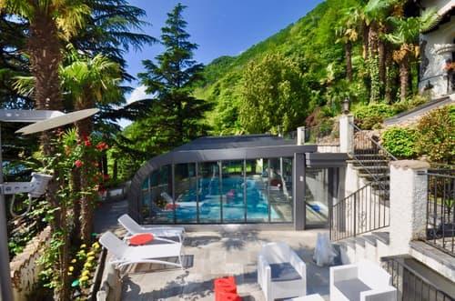 Villa Immersa nel Verde con Privacy e Vista Lago in affitto a Melide