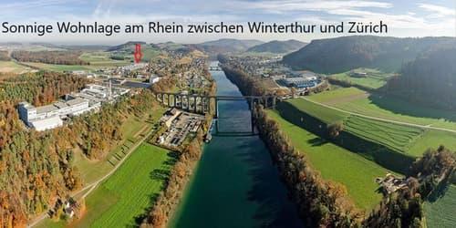 ON THE SUNNY SIDE - REINSTES WOHN-/WOHLGEFÜHL AM RHEIN - NUR 25 AUTOMIN. VON ZÜRICH CITY ENTFERNT