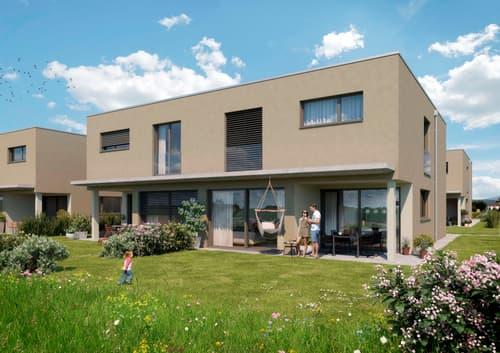 8 neue Doppelhaushälften