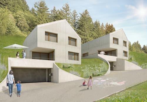 Neubau Einfamilienhaus mit Doppelgarage und Terrasse