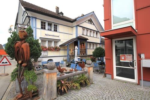 Geschichtsträchtiges Appenzellerhaus (Restaurant Linde) in Appenzell (AI)