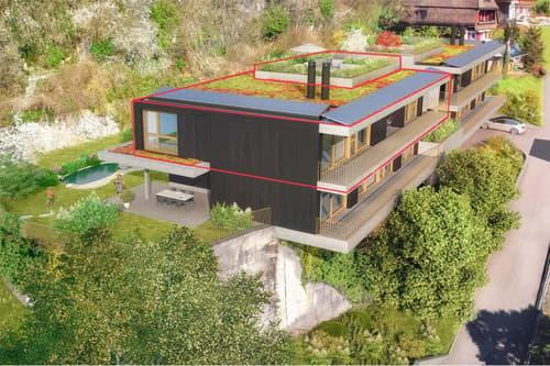 Wohnung 3, Haus A, mit grosser Dachterrasse