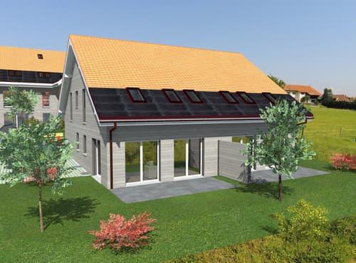 Dompierre, à vendre, villa mitoyenne de 5.5 pièces, terrain de 224 m2