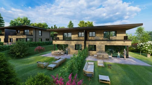 Construction d'un ECO QUARTIER 7 Villas d'architecte en ossature bois.