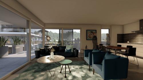 Magnifiques appartements de 41/2 pces en attique