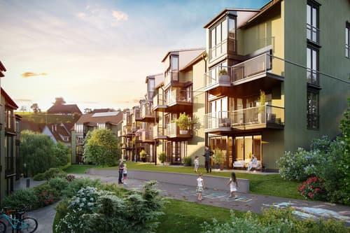 """Grosszügige 5.5 Zimmer-Maisonette-Wohnung """"Unter der Linde"""" im idyllischen Hirzel"""