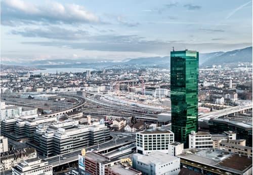 Büroflächen im Prime Tower - Ausgebautes Stockwerk (1)